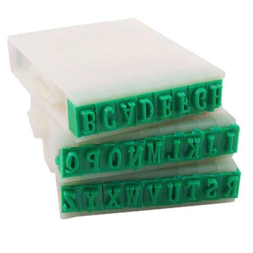 TOOGOO(R) Timbro Set staccabile 26-lettere alfabeto inglese Plastica