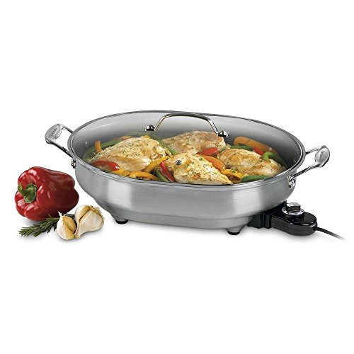 Learn More About Cuisinart CSK-150FR 1500-Watt Nonstick Oval Electric Skillet (Renewed)