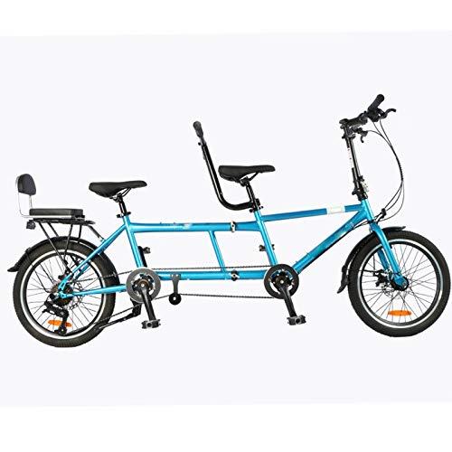 Sightseeing-Fahrrad Mit Einem DREI-Personen-Fahrrad, Mutter Und Kind, Doppelvater Und Sohn, Sightseeing-Fahrradpaar, Zwei Eltern-Kind-Doppelfalz