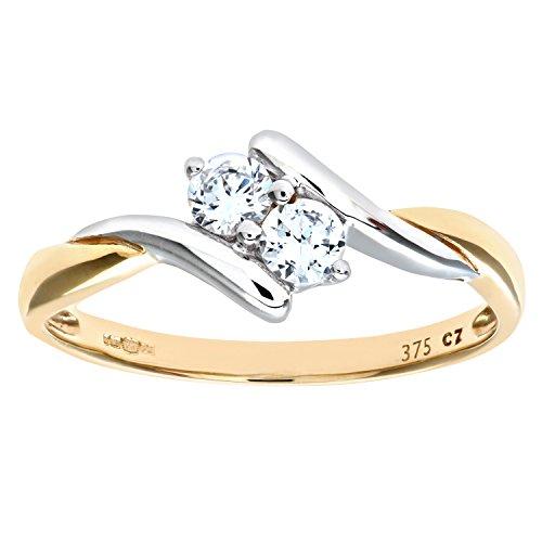 Citerna Damen-Ring 9 Karat (375) Gelbgold Gr. 54 (17.2) 7 Diamanten
