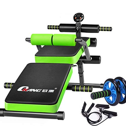 JCOCO Faltbare sitzen Bank Slant Board Pro Ab, verstellbare Workout Bauch Übung Multifunktions Bench Board (Multi-Funktions-Booster) (Farbe : Green)