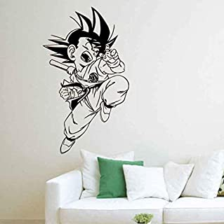 EyingEr Pegatinas De Pared Bola De Dragón De Dibujos Animados Sol Wukong Vinilo Tatuajes De Pared Decoración Para El Hogar Sala De Estar Diy Arte Mural Papel Tapiz Extraíble 98 * 57 Cm