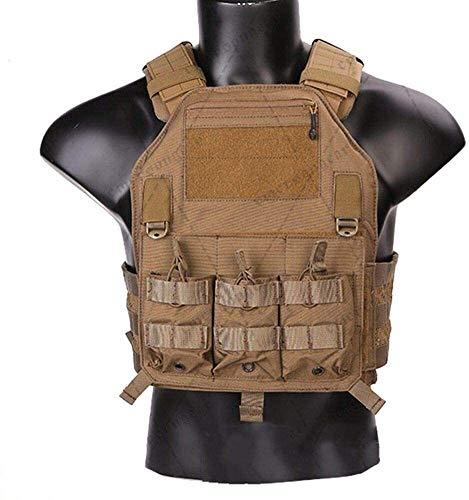 Syxfckc Placas de Armadura de Cuerpo Chaleco táctico Emerson Pistola de Aire Bolsas de Caza Equipo de Entrenamiento de Combate Seguridad hreh (Color : Multicam Arid)
