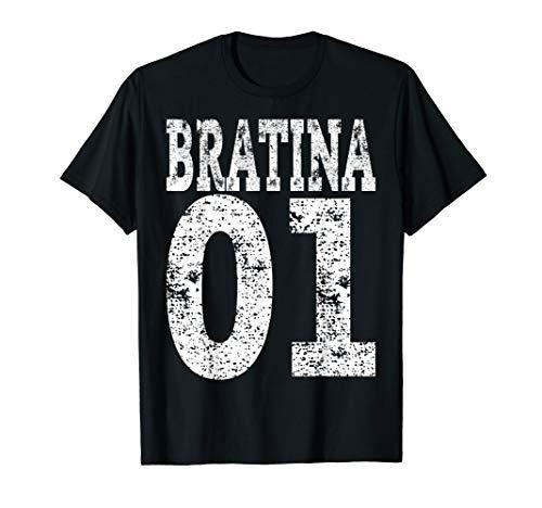 Bratina 01 T-Shirt Rap Hip Hop Russisch Schwester Geschenk
