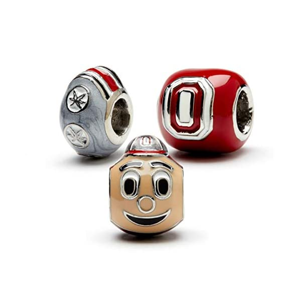 Ohio State University Bead Charm | Buckeyes Beads | Officially Licensed | Ohio State Jewelry | Stainless Steel