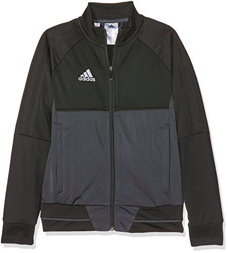 adidas Kinder Tiro 17 Trainingsjacke, Black/Dark Grey/White, 116