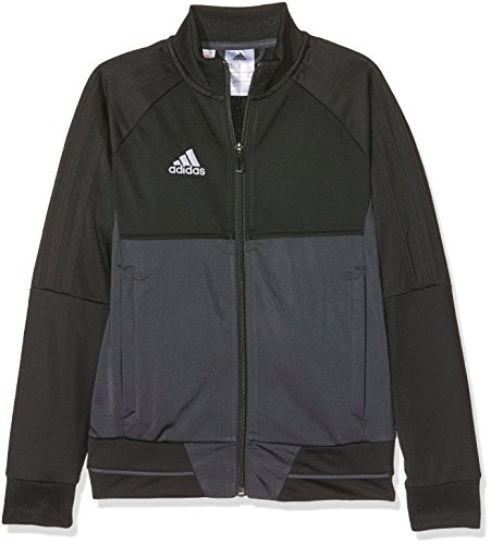 adidas Jungen Tiro 17 Polyester Trainingsjacke, Black/Dark Grey/White, 164
