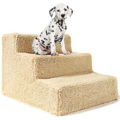MeterMall Huisdier Speelgoed 3 Trappen Huisdier Trappen Afneembare Huisdier Bed Training Trappen Hond Ramp Ladder