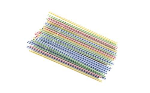 Goodcook 735343276248 Straws, Flexible 50ct, Small, Multicolor