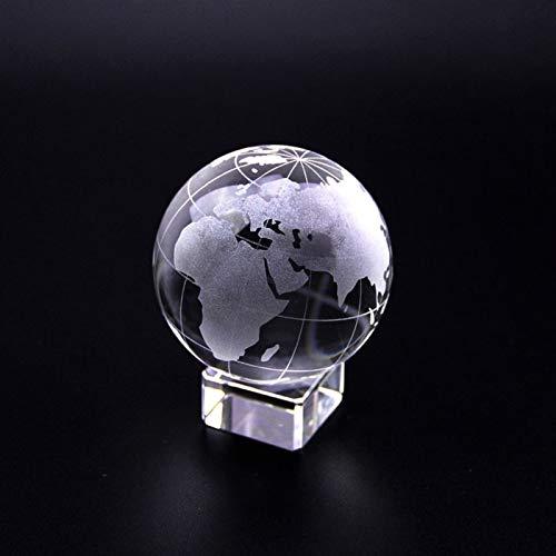 Athletic Sports Souvenir Crystal Ball Ball Esfera de vidrio con soporte Ornamento en miniatura Bola de bola de tierra de cristal globo Papel Papel Papel ( Color : Globe , Size : 40mm ball with base )