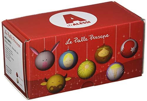 Alessi AMJ14SET3 Angioletto e Stella Cometa Engel und Weihnachtsstern formige Weihnachtskugel-Set, Handdekoriertes Geblasenes Glas, 2-teilig