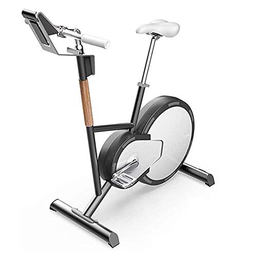 SAFGH Bicicleta estática Bicicleta de Ejercicios, Control magnético Inteligente Resistencia Bicicleta de Ejercicios Quema de Grasa Bicicleta Fija para Interiores, 4 Modos de Entrenamiento, 24 Velo