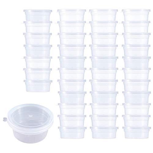Lifreer, 40 contenitori per slime, in plastica a prova di perdite, con coperchio, piccoli vasi in plastica