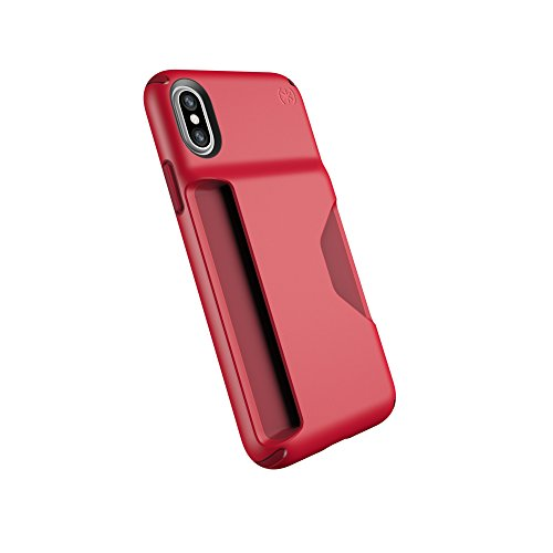 Speck Products Presidio Wallet Case For iPhone XS/iPhone X - MARS RED/VELVET RED