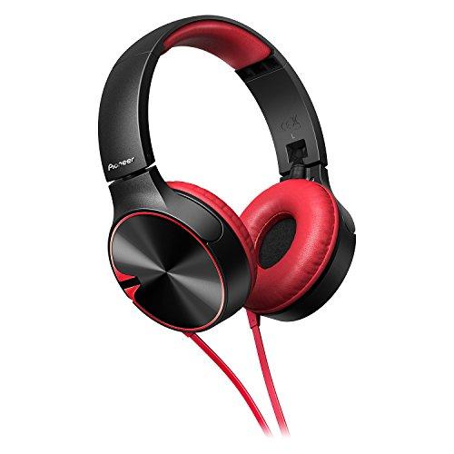 Pioneer SE-MJ722T-R - Auriculares, Color Negro y Rojo