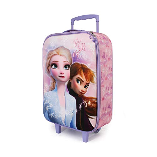 KARACTERMANIA Frozen Wind - Maleta Trolley Soft 3D, Multicolor