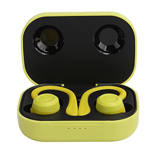 Mxzzand Drahtloser Kopfhörer, Lange Lebensdauer von Bettery mit tragbaren Power Bank-Ohrhörern Drahtlos, zweimal tippen, um den(Vigor Yellow)