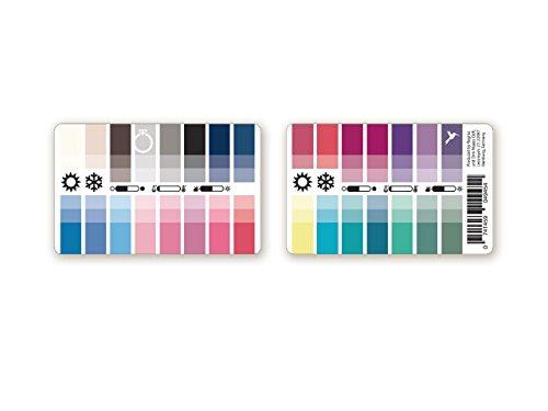Handlicher Karten-Farbpass Sommer-Winter (Cool Summer) aus Plastik mit 30 typgerechten Farben zur Farbanalyse, Farbberatung, Stilberatung