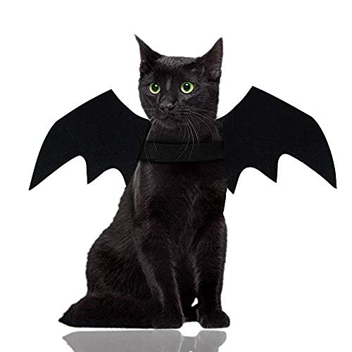 Malier Halloween Cat Costume for Cats Dogs Pet Bat Wings Cat Dog Bat...