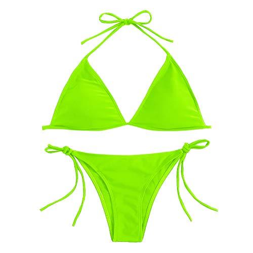 YANFANG Conjunto de Bikini Dividido Degradado de Contraste de Pecho Alto Sexy para Mujer Traje de baño de una Pieza