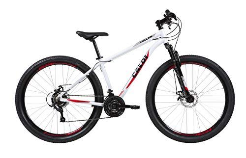Bicicleta Aro 29 Caloi Vulcan Branca Tam. 17 Câmbio SunRun