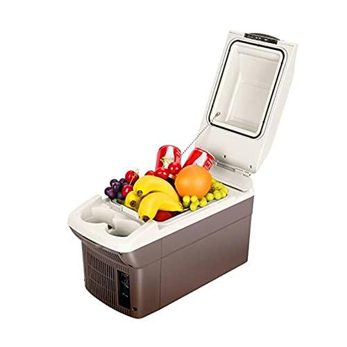 XIAOLIN Termoeléctrico Portátil Pequeño Refrigerador Congelador Cooler Y Calentador, 9 litros, 12 / 24v para Conducir Pesca De Viajes Al Aire Libre Y En El Hogar(Color:01)