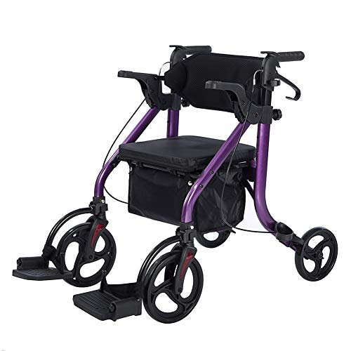 Elenker 2 in 1 Transport Wheelchair and Rollator Walker can act as both - a transport wheelchair and a rollator walker