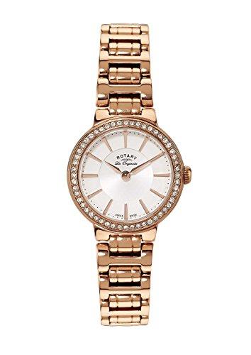 Rotary Les Originales LB90085/02 - Reloj para Mujeres, Correa de Acero Inoxidable Chapado Color Oro Rosa