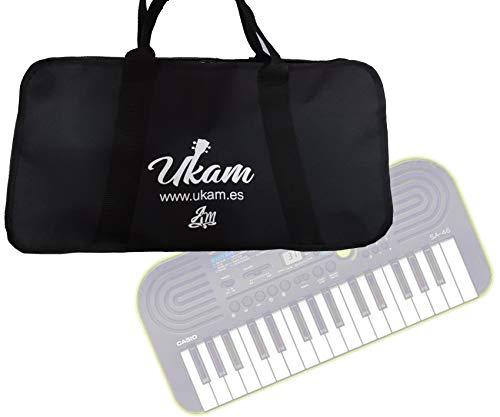 Funda UKAM para mini-teclados Casio SA46/SA47 y KURZWEIL KP10.Medidas:47x25x7cm MADE IN SPAIN