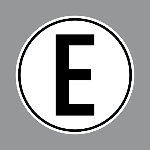 Aufkleber 10cm E für Elektromotor Elektro Motor Sticker Mofa Roller Moped Vespa Kart Quad Scooter Racing Rennwagen Motorsport (1)