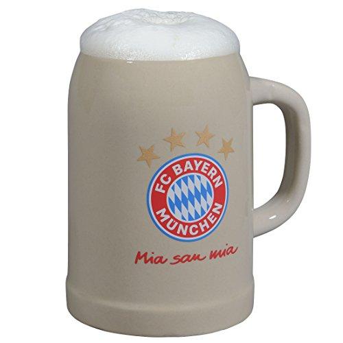 FC Bayern München Bierkrug/Krug mia san mia FCB - Plus gratis Aufkleber Forever München