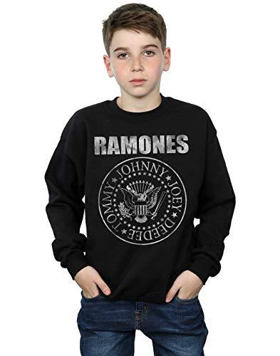 Ramones niños Distressed Seal Camisa De Entrenamiento 5-6 Years Negro
