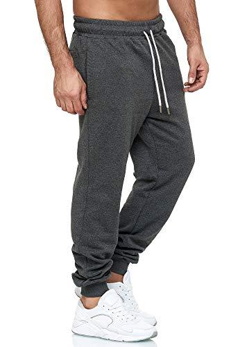 Tazzio Jogginghose Slim Fit Herren Sporthose Fitness Freizeit Hose Trainingshose Sweat Sweatpants Jogger | 16600 (Anthrazit, Small)