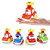 4Pack Wind Up Toys Cars for Baby Boy Girls, Cartoon Animal Wind Up Cars for...