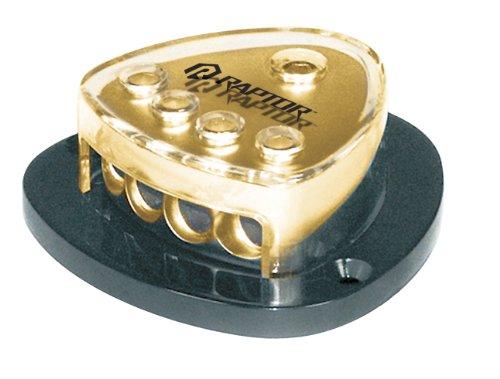 Raptor R4DB14G 4-Position 24K Hard Gold Plated Ground Distribution Block