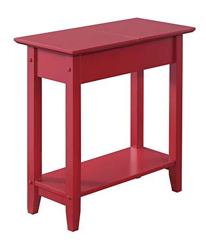 Convenience Concepts 7105059CR American Heritage - Mesa Auxiliar con Tapa, Color Rojo