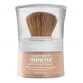 L'Oreal Paris True Match Mineral Loose Powder Foundation, Soft Ivory, 0.35oz