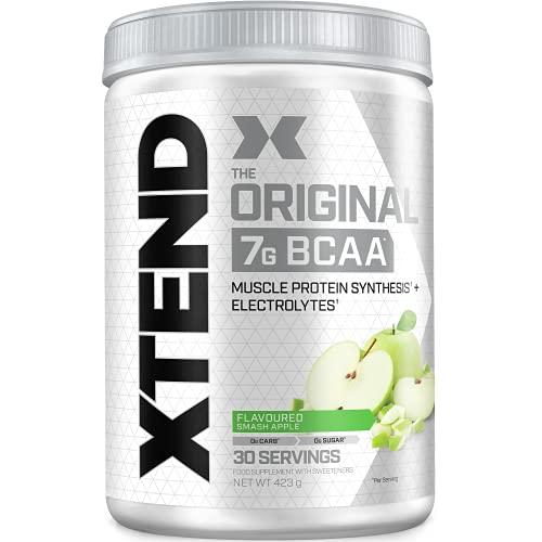 XTEND Original | aminoacidi BCAA in polvere Mela verde | Integratore di aminoacidi ramificati | 7g BCAA + elettroliti per recupero e idratazione | 30
