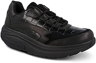 Gravity Defyer Women's G-Defy Noganit Athletic Shoes 10 M US - Hybrid VersoShock Proven Performance Shock-Absorbing Leather Pain Relief Shoes Black