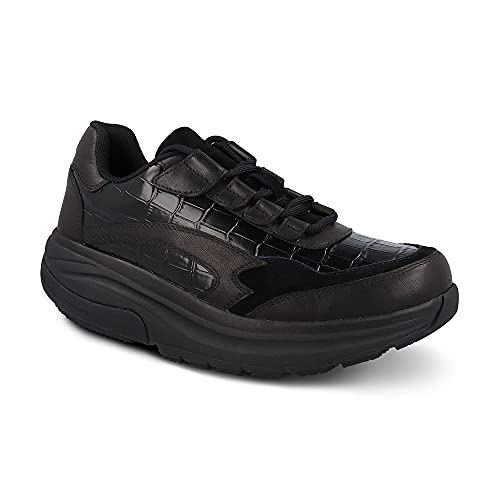 Gravity Defyer Women's G-Defy Noganit Athletic Shoes 6 M US - Hybrid VersoShock Proven Performance Shock-Absorbing Leather Pain Relief Shoes Black