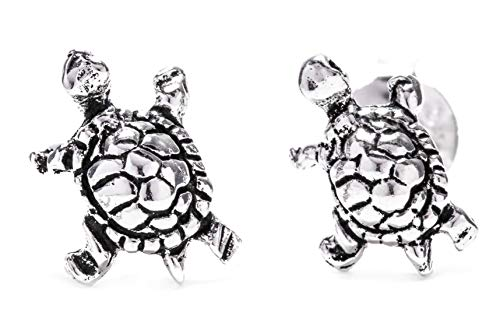 WINDALF Lucky Boho Ohrstecker NANIA 0.9 cm Kleine Glücksbringer Schildkröten 925 Sterlingsilber