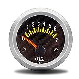 Dhmm123 Digital Auto 2'52mm Öldruckanzeige 0-7bar Mit Sensor Rauch Objektiv Ölpresse Manometer Auto Meter Spezifisch