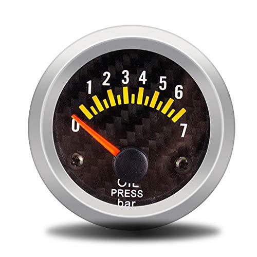 """Auto 2\""""52mm Öldruckanzeige 0-7bar Mit Sensor Rauch Objektiv Ölpresse Manometer Auto Meter Multimeter Digital Tester"""