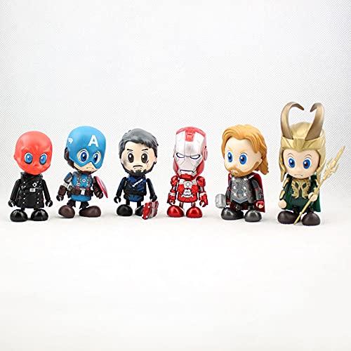 KPSHY The Avengers Iron Man Spider-Man: Homecoming Actionfigur GK Anime Figur Charakter Spielfigur Statue PVC Material Home Office Dekoration Höhe 7-10CM (6 Styles)