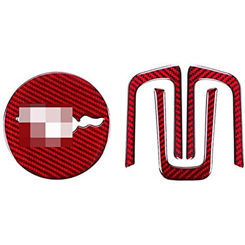 YFBB Pegatina de Fibra de Carbono para Volante de Coche, Pegatina Especial para Cubierta Interior, para Ford Mustang 2015-2019