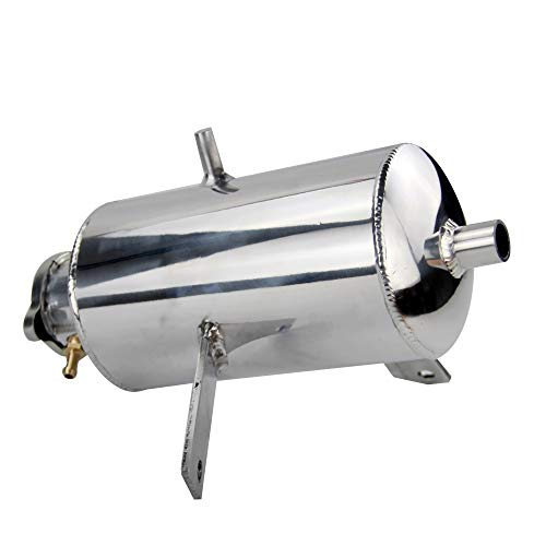 Super1Six Tanque de Agua Pulido de aleación Universal y Captura de Aceite Can 1.5L Agua Redonda Captura de Agua Can Tank