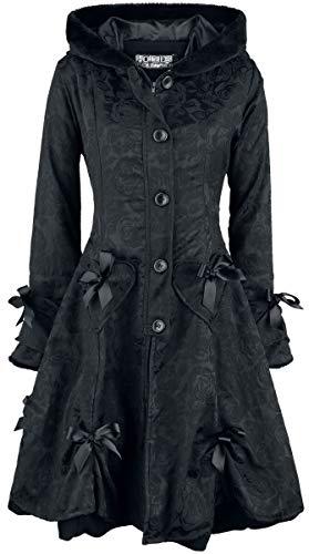 Poizen Industries Alice Rose Coat Wintermantel schwarz M