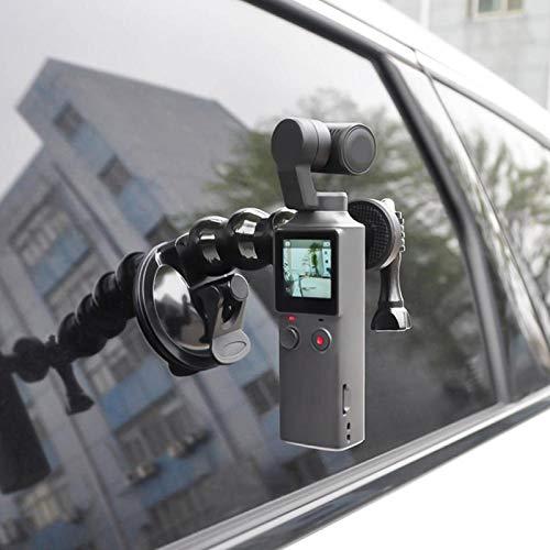 Motion Camera Sucker Mount Sucker Montaje fijo Negro Ajuste de 360 grados Ángulo de disparo con puerto de rosca de 1/4 pulgadas Adecuado para teléfonos o tabletas de 55-85 Mm de ancho
