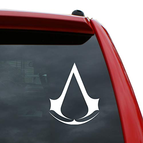 Black Heart Decals & More Assassin's Creed Logo Vinyl Decal Sticker | Color: White | 5' Tall