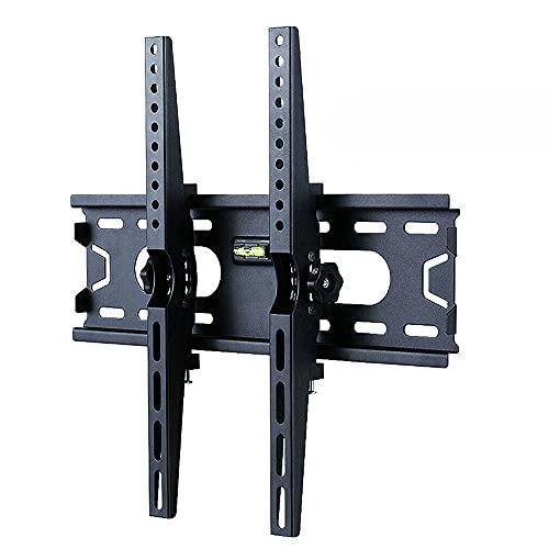 Qewrt Soporte de TV Soporte de Montaje en Pared inclinable Universal para TV para TV de Pantalla LCD LED de 26-55 Pulgadas VESA 400x400mm Sostiene hasta 88 Libras